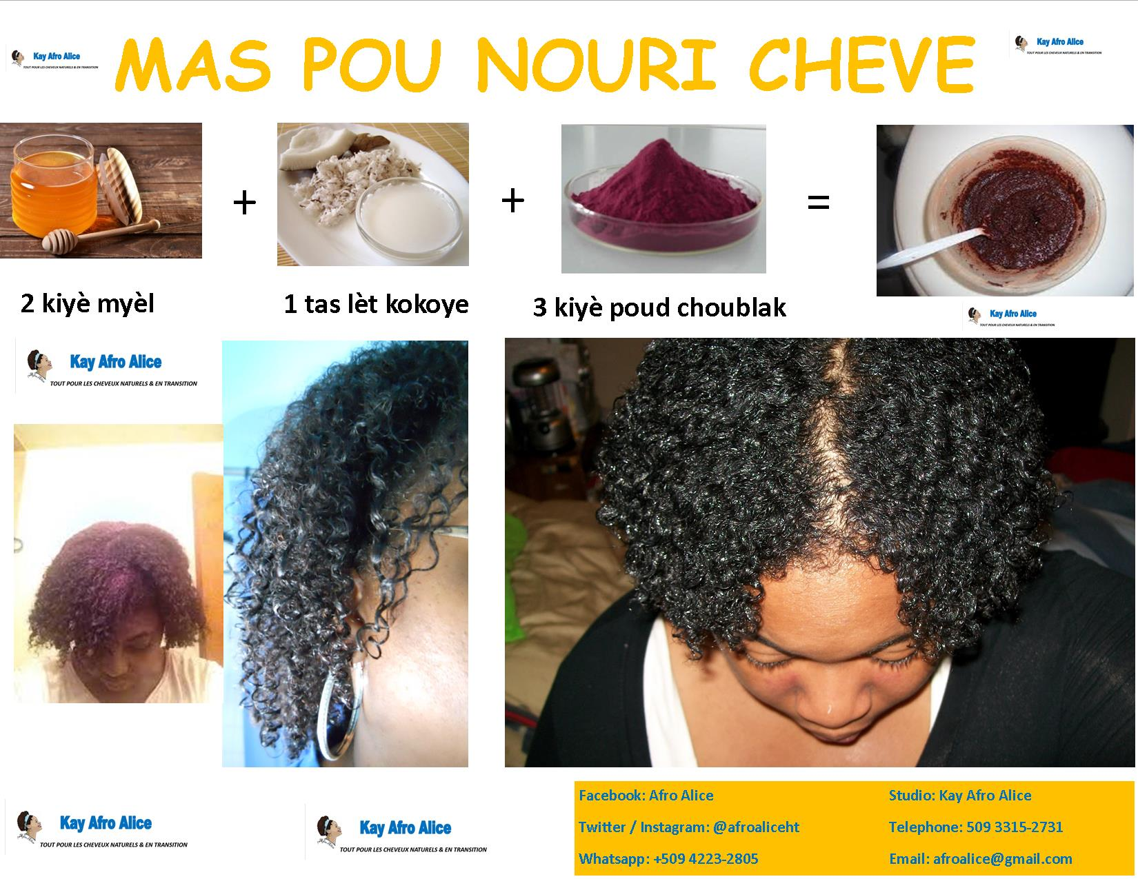 Nourishing Hair Mask With Hibiscus Afro Alice